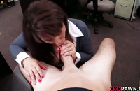 Slutty office worker gets worked up and blows the dick of her kinky boss.