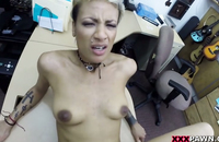 Her skin is so soft and the shaved pussy gets screwed many times. Lovely blondy gets what she needs - the money!